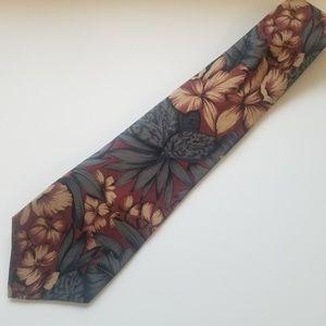 Christian Dior silk tie. Dark floral.